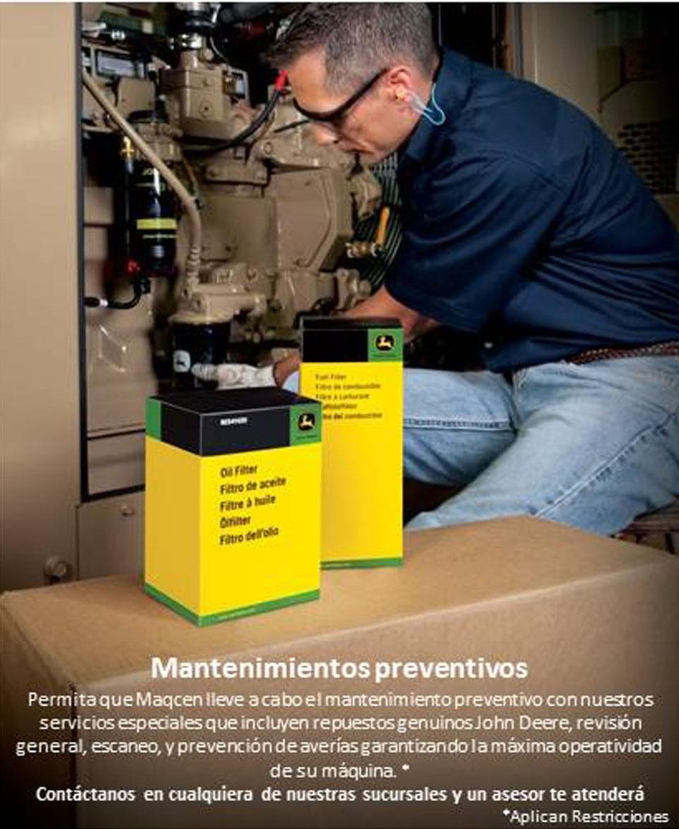 Mantenimientos preventivos de equipo JD